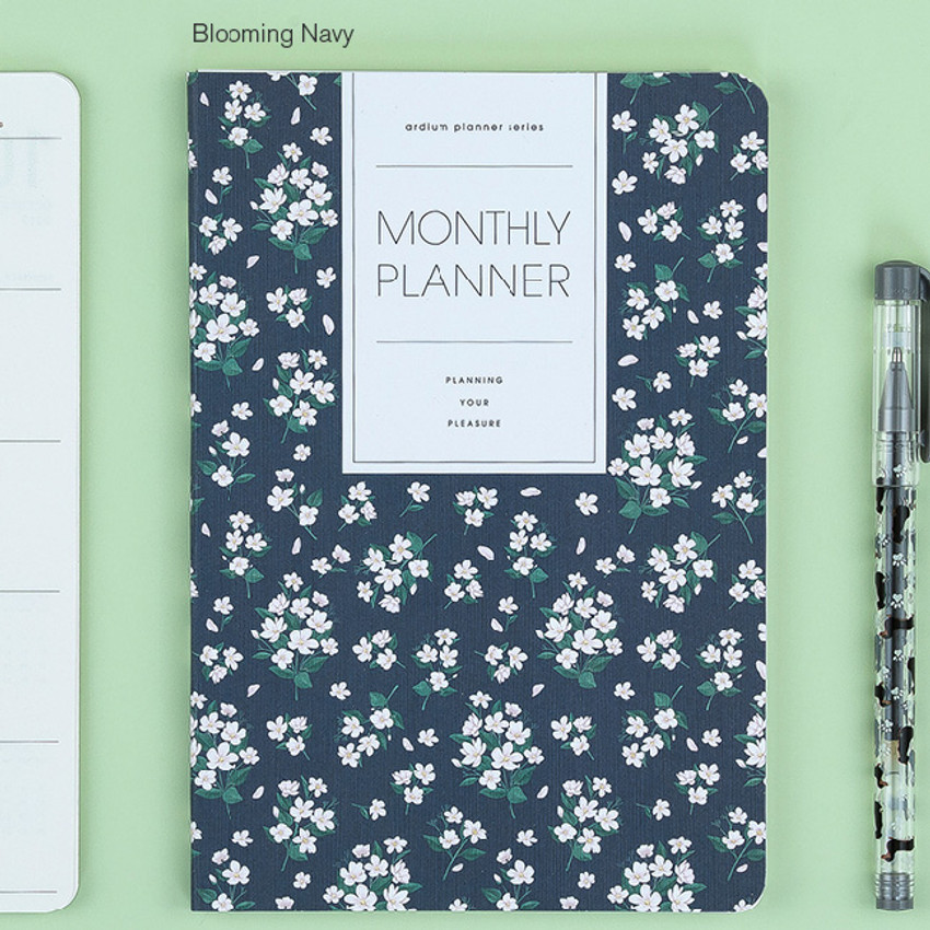 Blooming navy - 2017 Ardium Pattern monthly dated planner