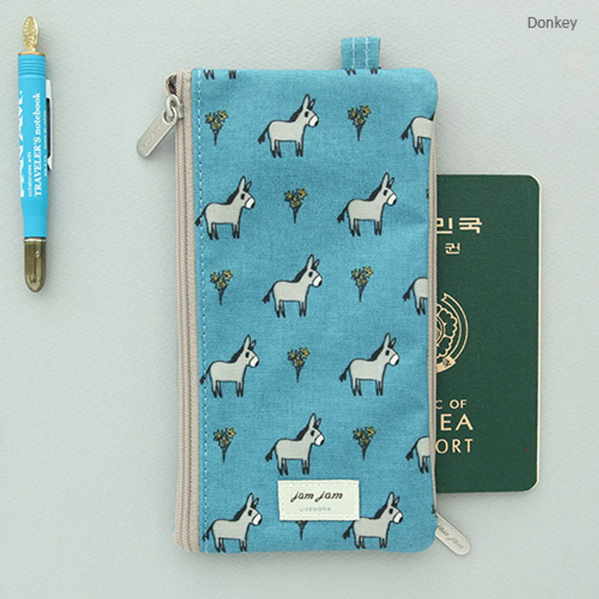 Donkey - Jam Jam pattern zipper pouch