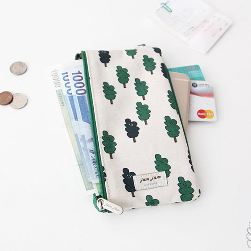 Two tree - Jam Jam pattern zipper pouch