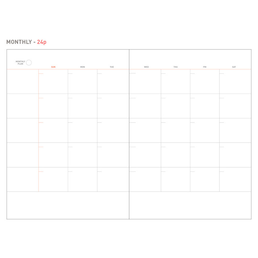 Monthly - Livework The project undated planner ver.2
