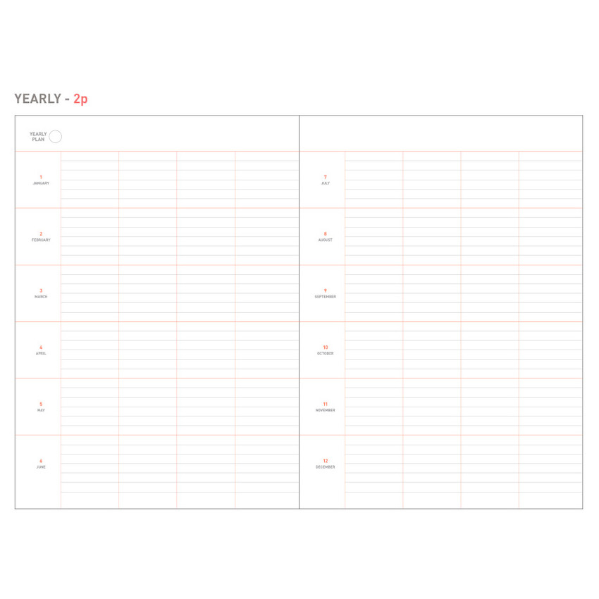 Yearly - Livework The project undated planner scheduler ver.2