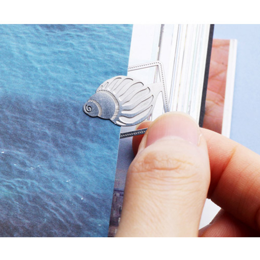 Bookfriends Sound of sea steel bookmark