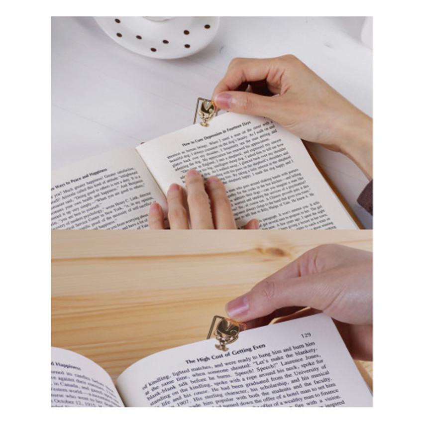 Bookfriends Crusian carp steel bookmark