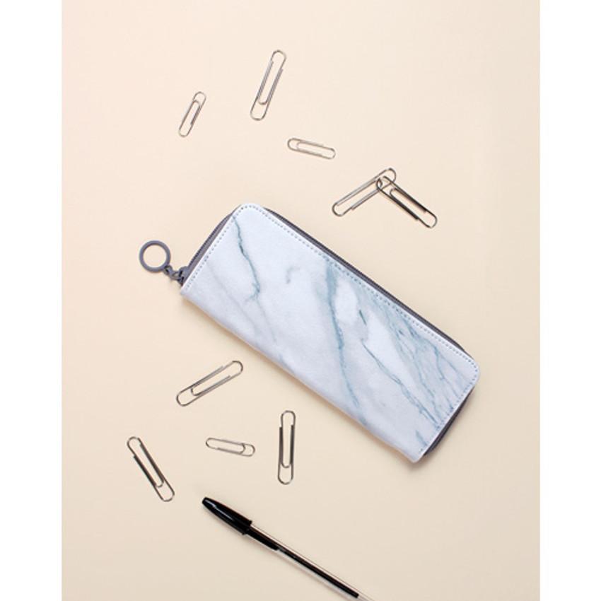 Marble - Avec chic zip around pencil case