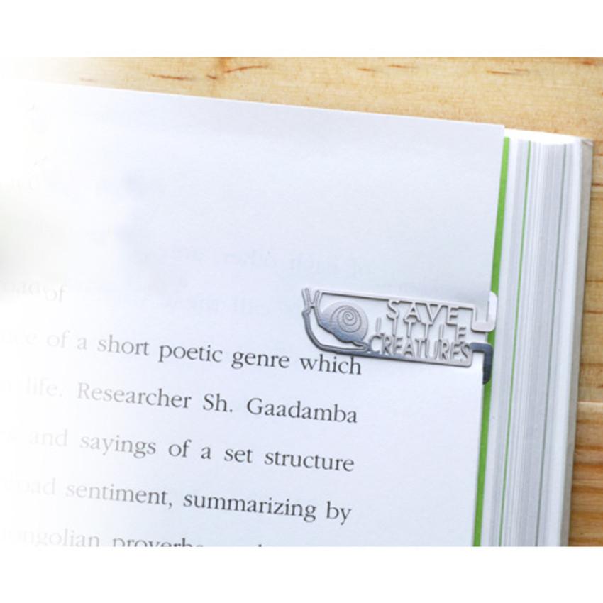 Bookfriends Save little creatures steel bookmark