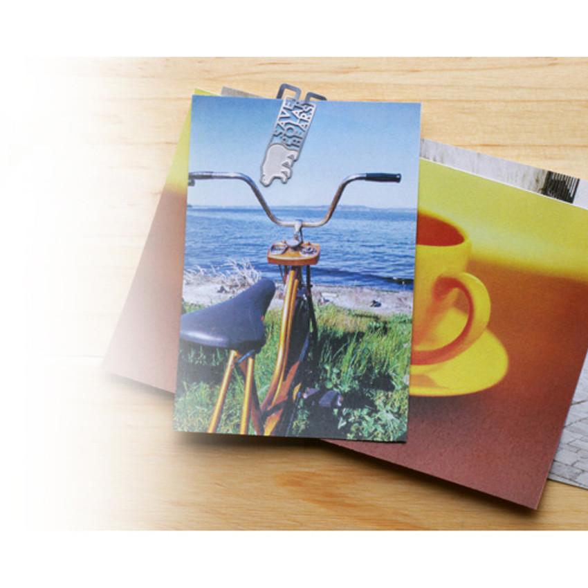 Bookfriends Save polar bears steel bookmark