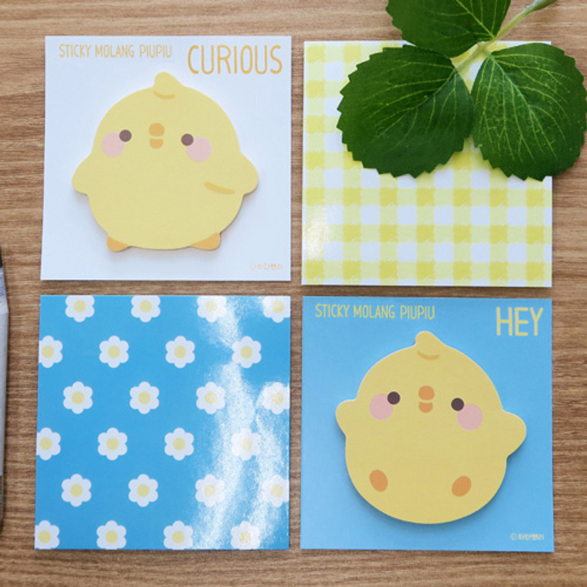 Bookcodi Molang piupiu cute sticky memo note