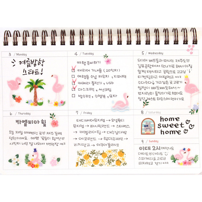 Weekly plan - Molang undated weekly desk scheduler