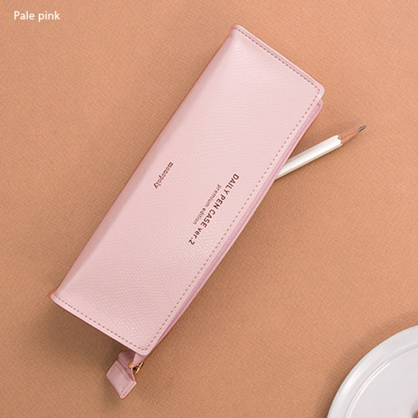 Pale pink - Monopoly Daily triangle zipper pencil case ver.2