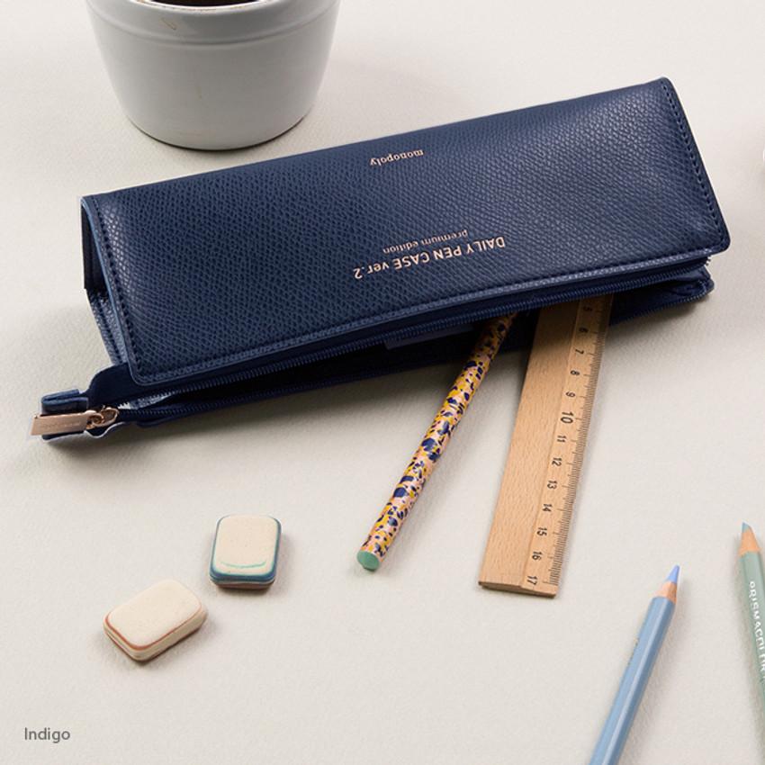 Indigo - Monopoly Daily triangle zipper pencil case ver.2