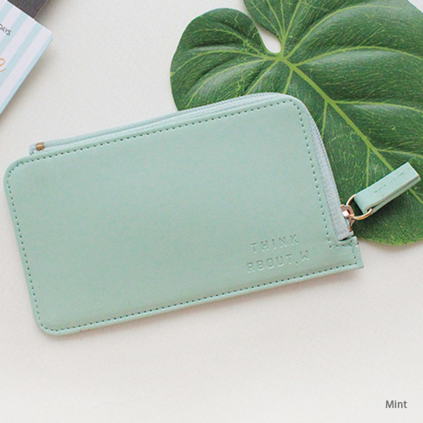 Mint - Think about coner zipper card case