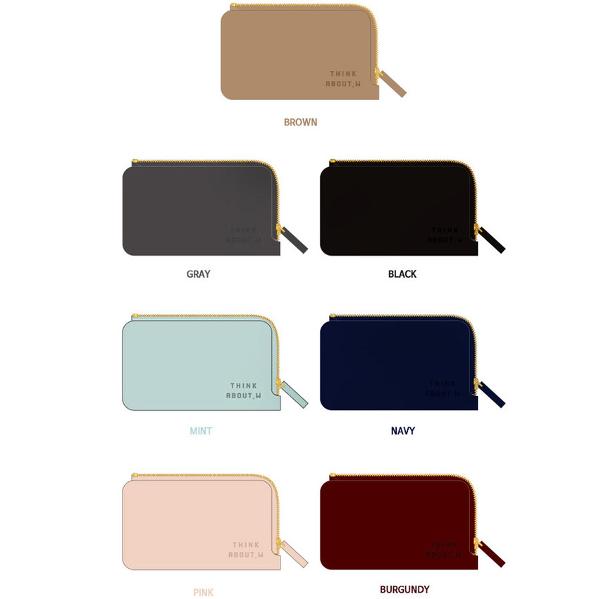 Colors of Think about coner zipper card case