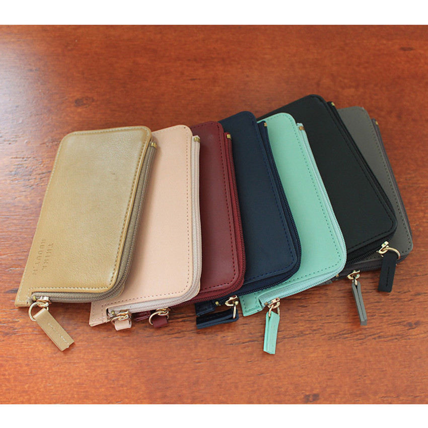 Think about coner zipper card case