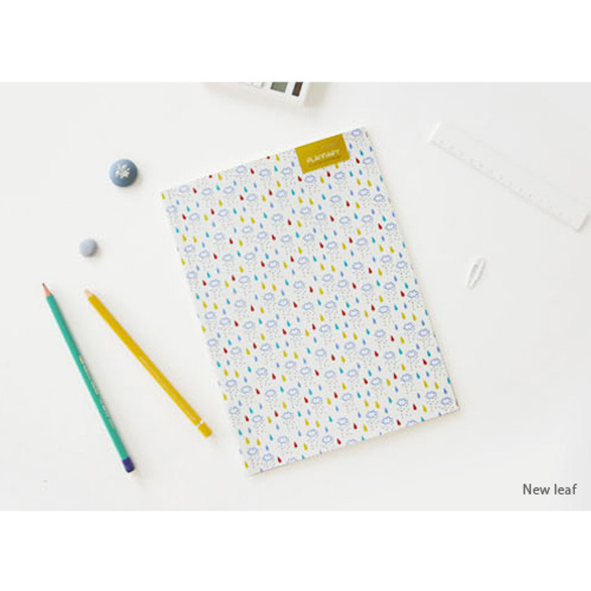 New leaf - Plannary Breezy windy lined notebook