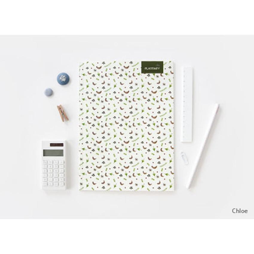 Chloe - Plannary Breezy windy lined notebook
