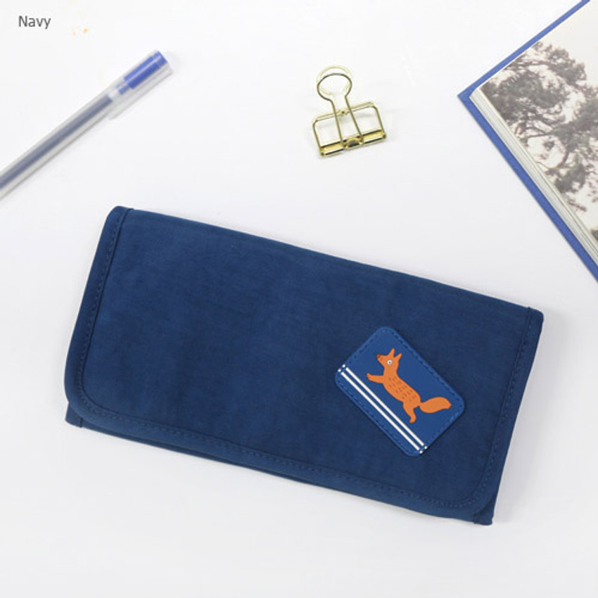 Navy - Brunch brother roll up organizer pouch