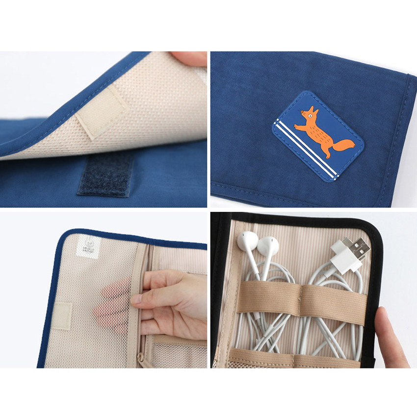 Detail of Brunch brother roll up organizer pouch