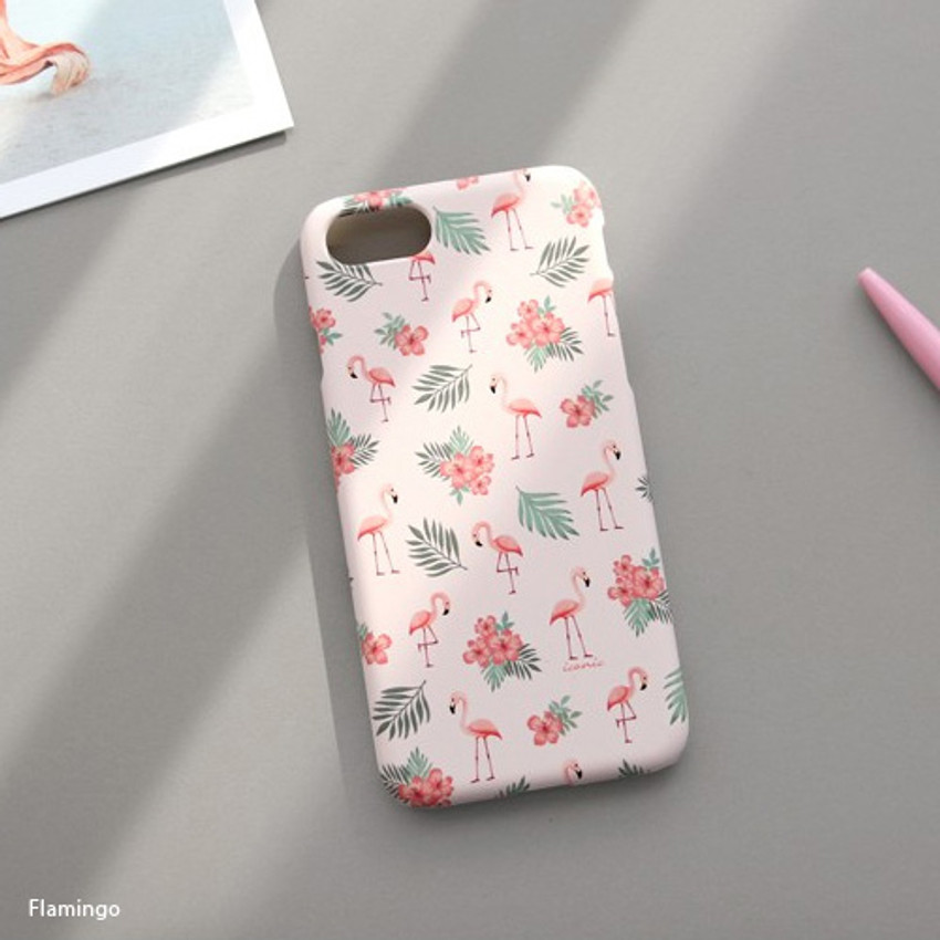 Flamingo - Iconic Pattern matte plastic hard case for iPhone 7