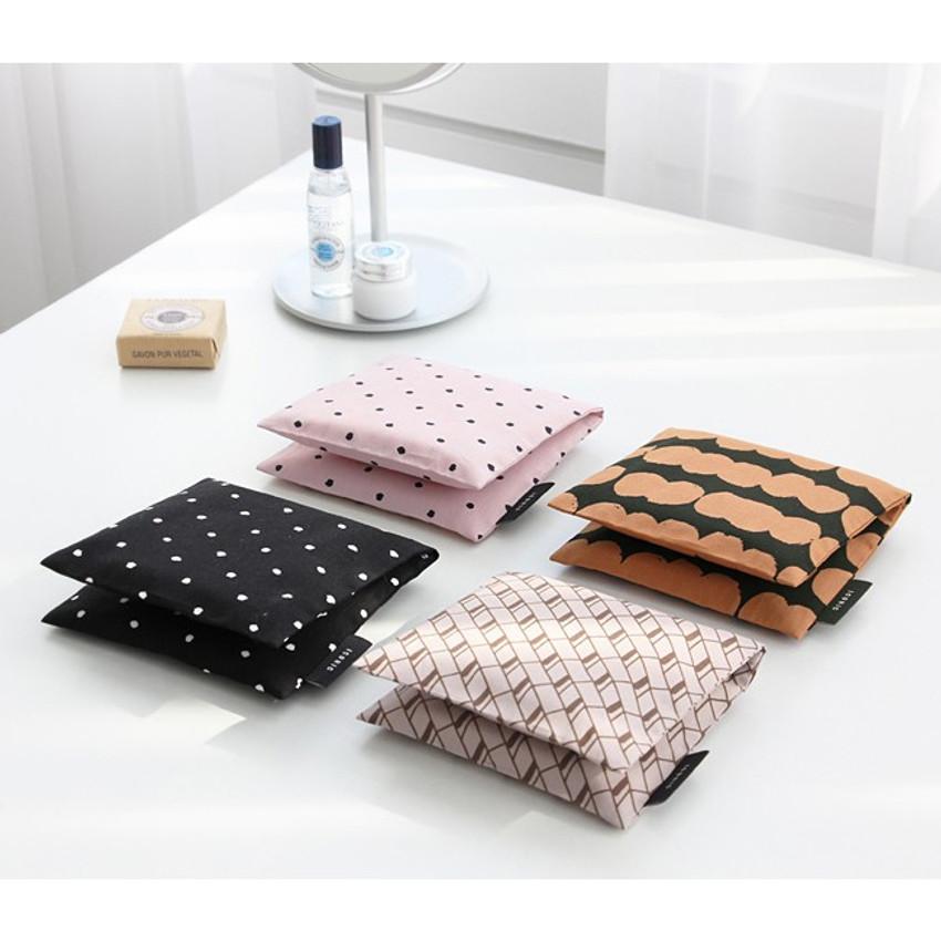 Pattern secret daily cotton pouch