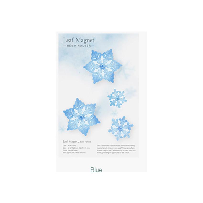 Blue - Appree Snow flower magnet set