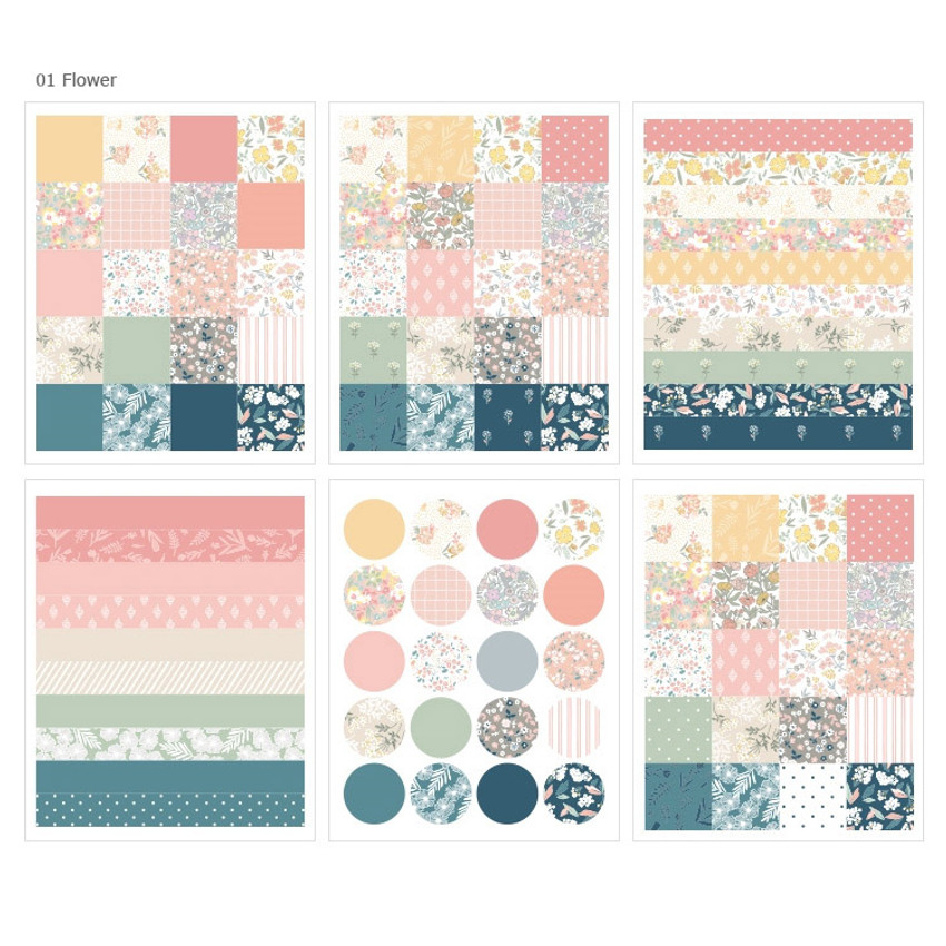 01 - Dailylike Paper pattern sticker set