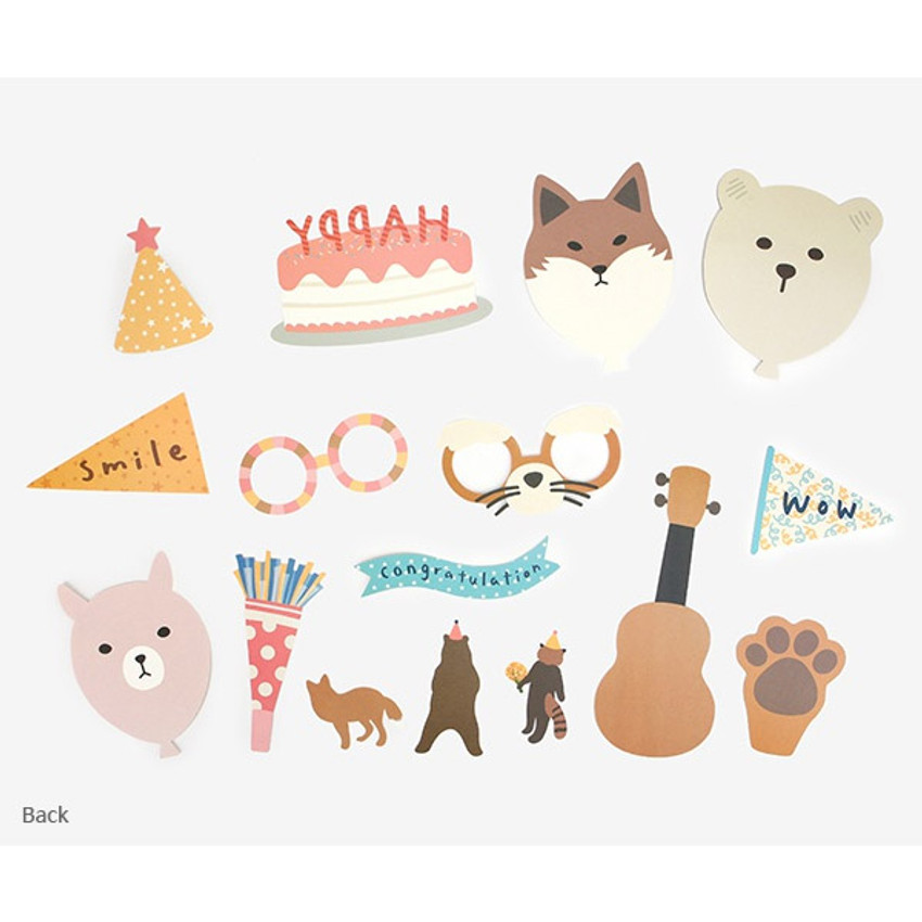 Composition of Happy birthday photo stick props set