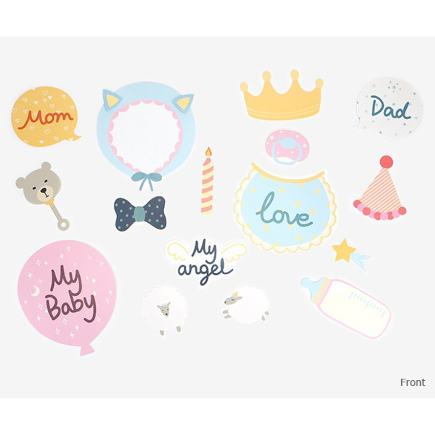 Front - Dailylike Baby photo stick props set