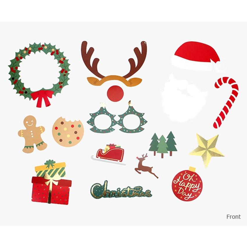 Front - Dailylike Christmas photo stick props set