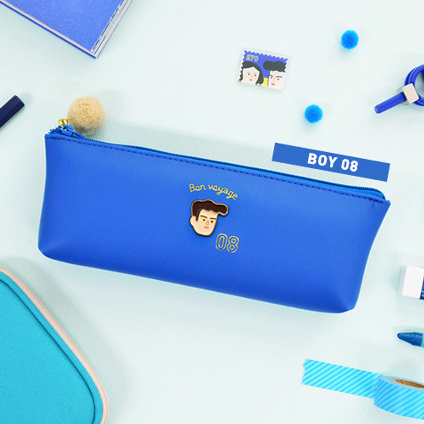 Boy 08 - Jam studio Du-dum pom-pom zipper pencil case
