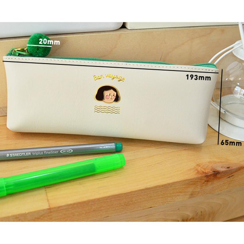 Mild girl - Jam studio Du-dum pom-pom zipper pencil case