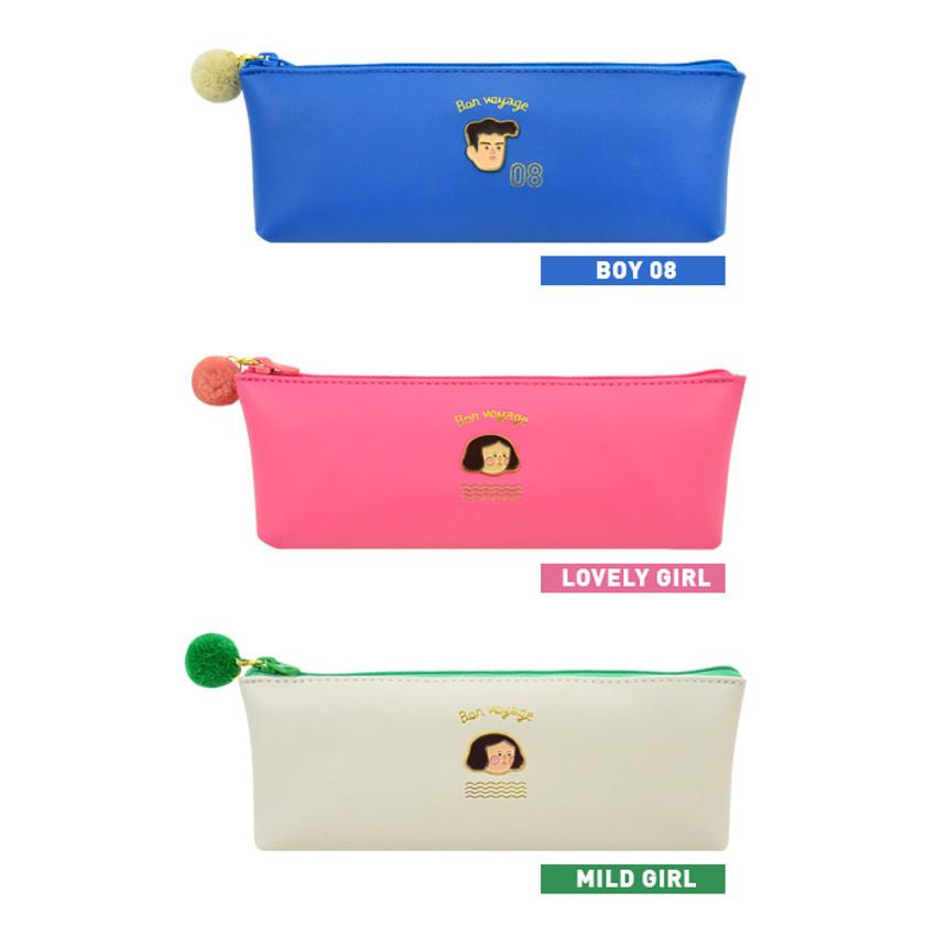 Option of Jam studio Du-dum pom-pom zipper pencil case