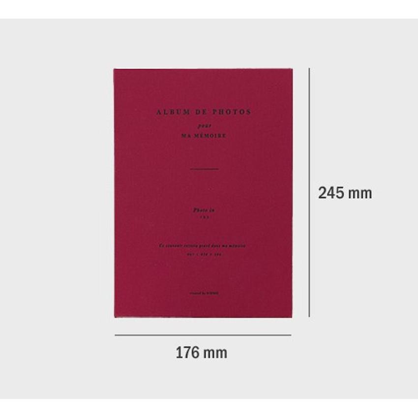 Size of Album de photos 3X5 slip in photo album
