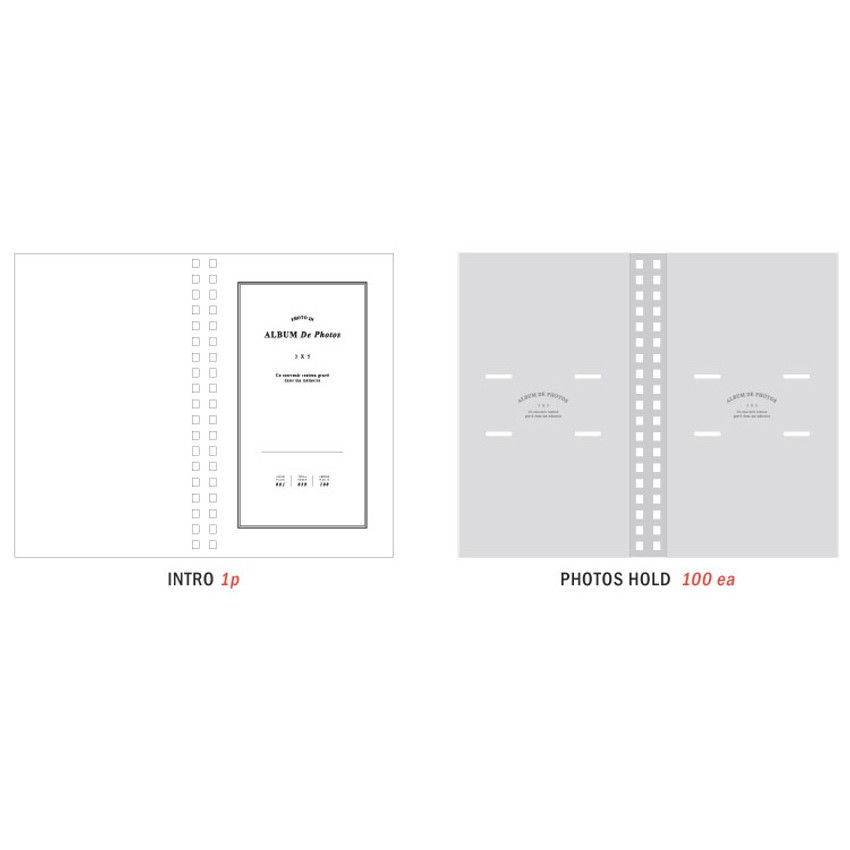 Composition of Album de photos 3X5 slip in photo album