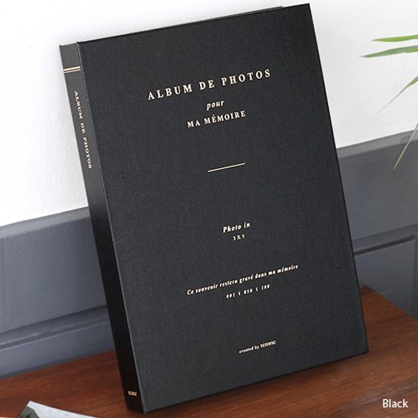 Black - Album de photos 3X5 slip in photo album