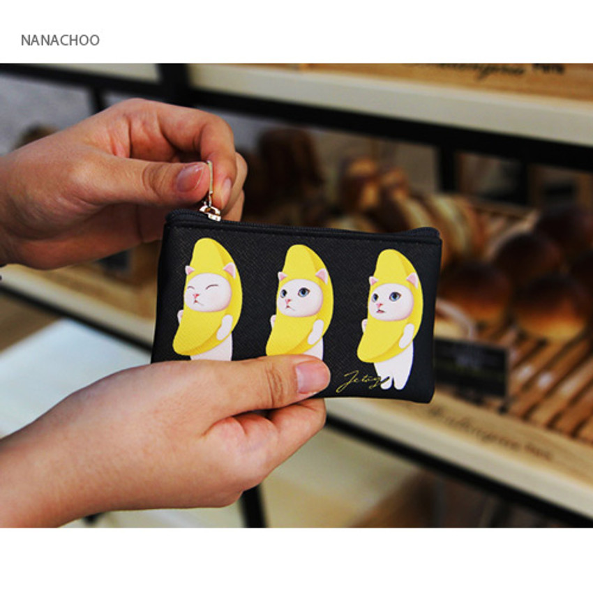 Nanachoo - Choo Choo cat slim zipper card case