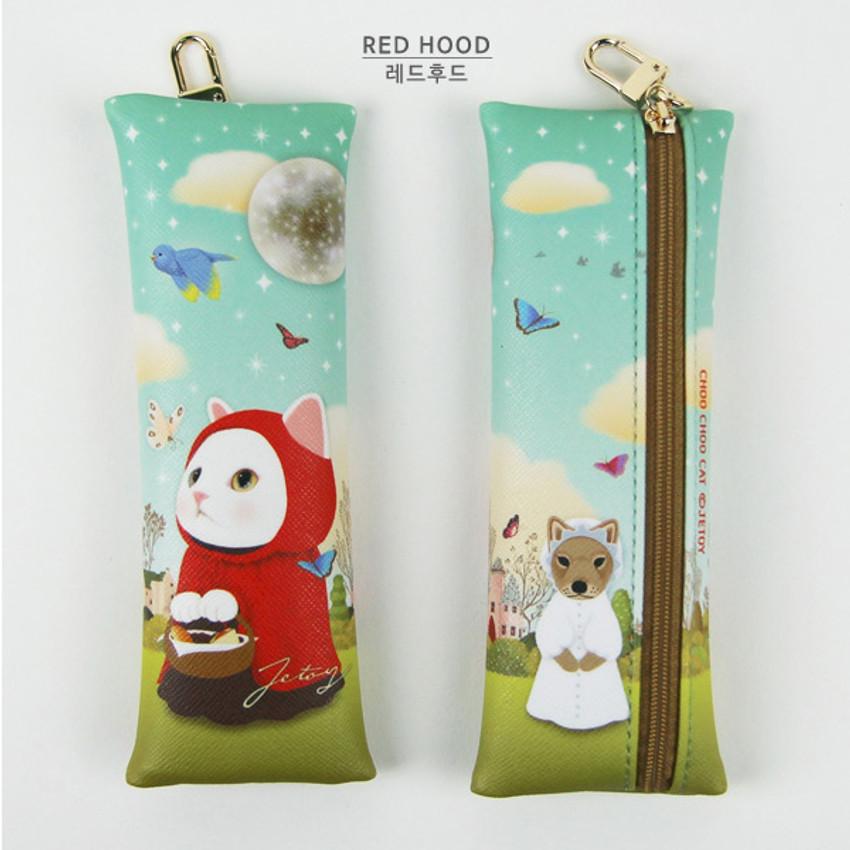 Red hood - Choo Choo cat slim pencil case