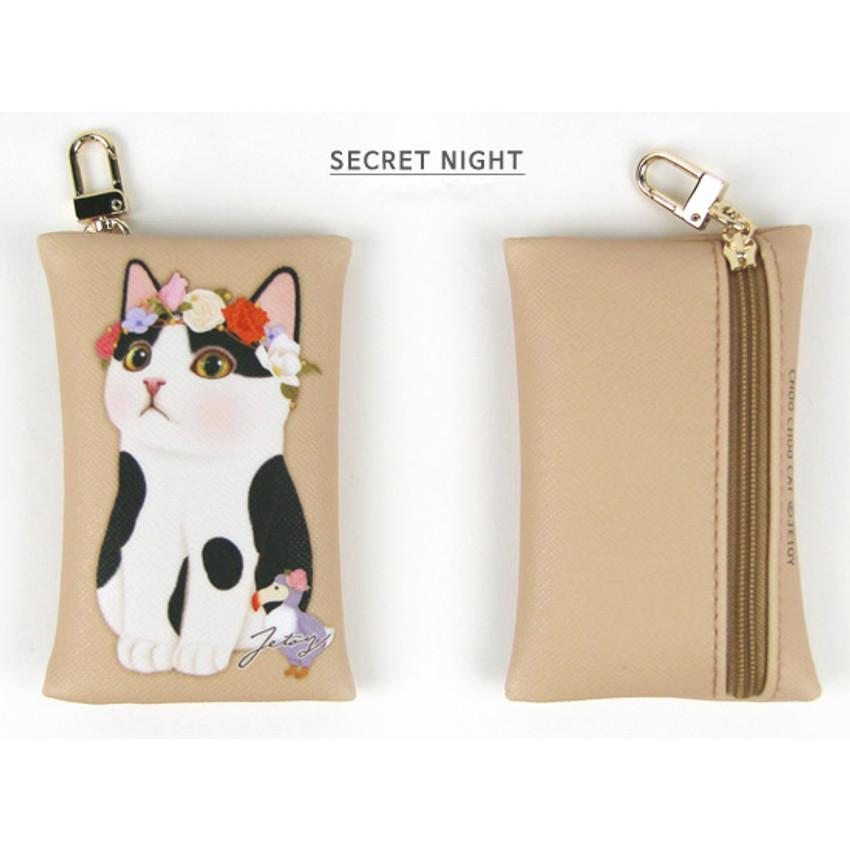 Secret night - Choo Choo cat card case holder