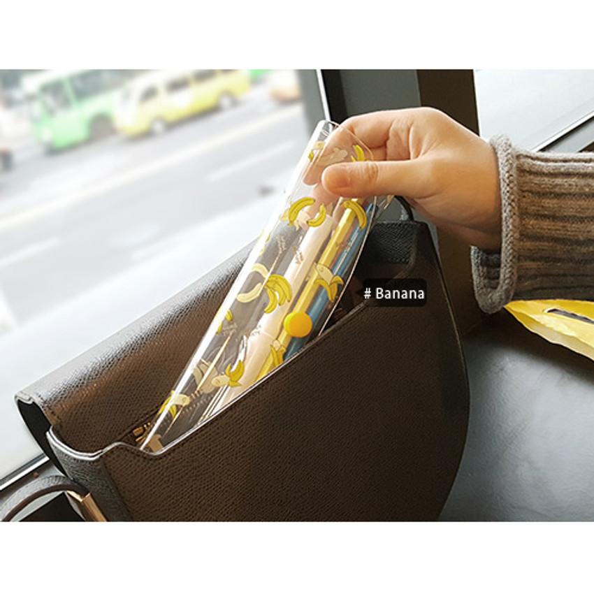 Banana - N.IVY Buri clear folding slim pencil case