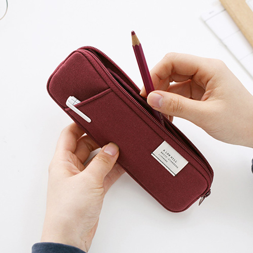 Brick red - A low hill basic standard pocket pencil case ver.3