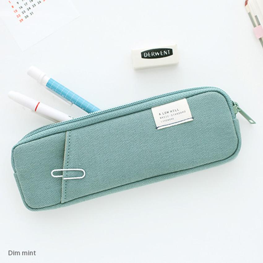 Dim mint - A low hill basic standard pocket pencil case ver.3