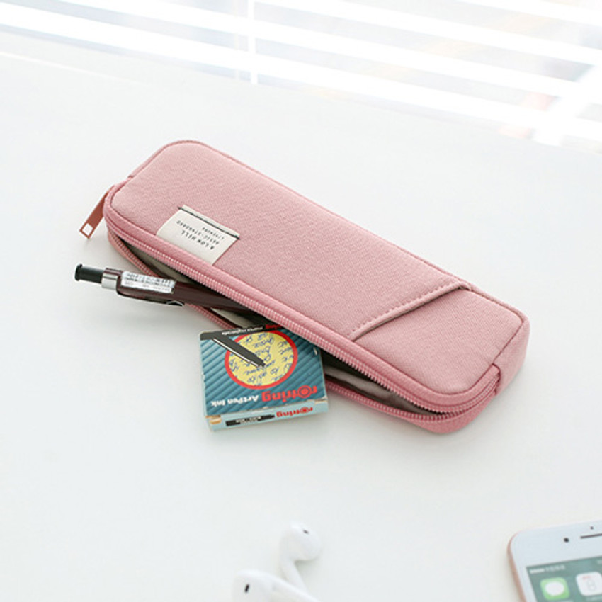 Indi pink - A low hill basic standard pocket pencil case ver.3