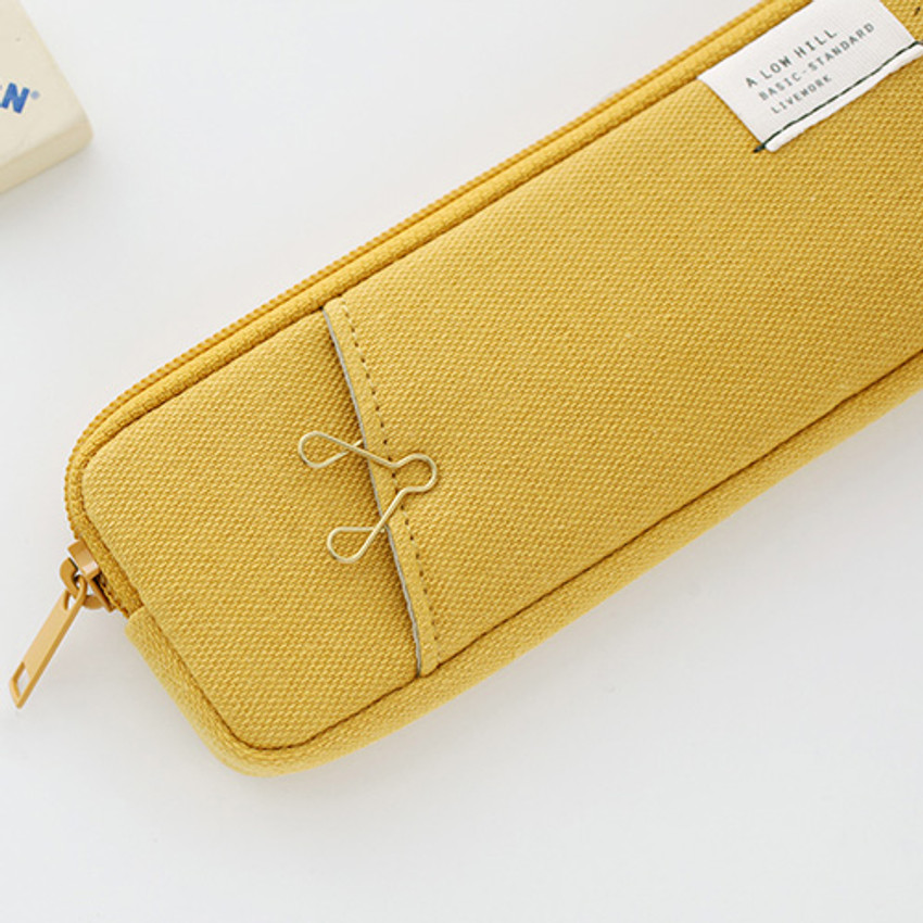Mustard - A low hill basic standard pocket pencil case ver.3