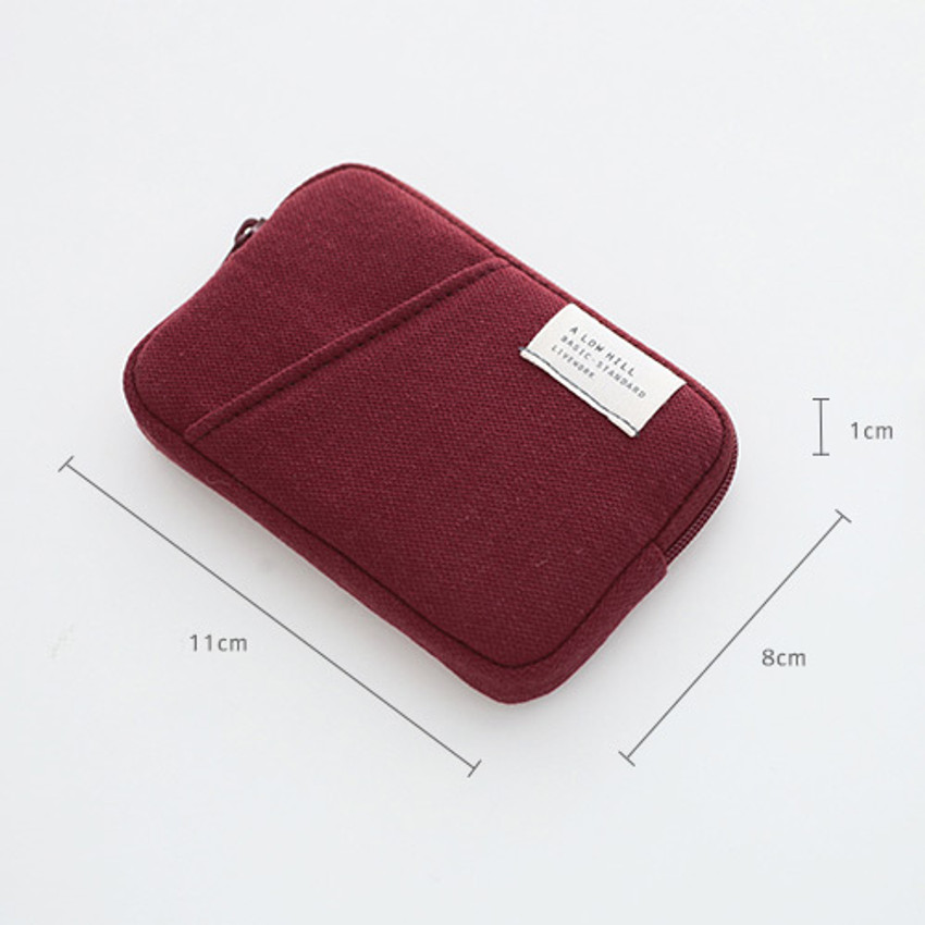 Size of A low hill basic standard pocket card case ver.2