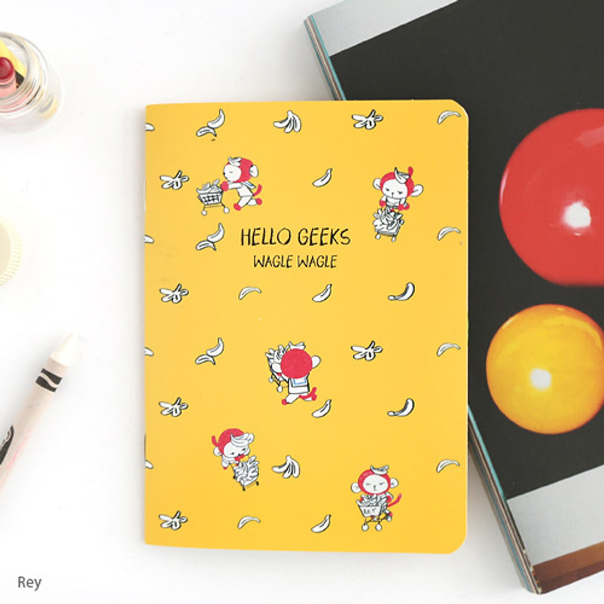 Rey - Romane illustration medium plain and lined notebook