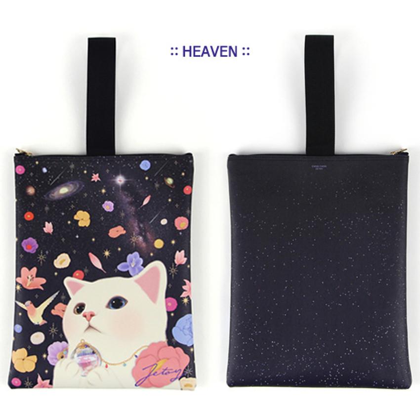 Heaven - Choo Choo cat cori zipper tote bag