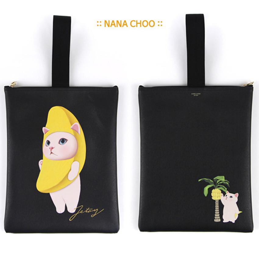 Nana choo - Choo Choo cat cori zipper tote bag