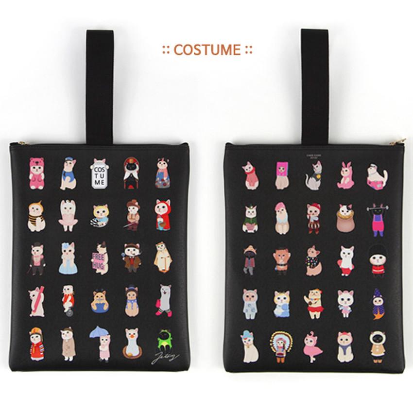 Costume - Choo Choo cat cori zipper tote bag