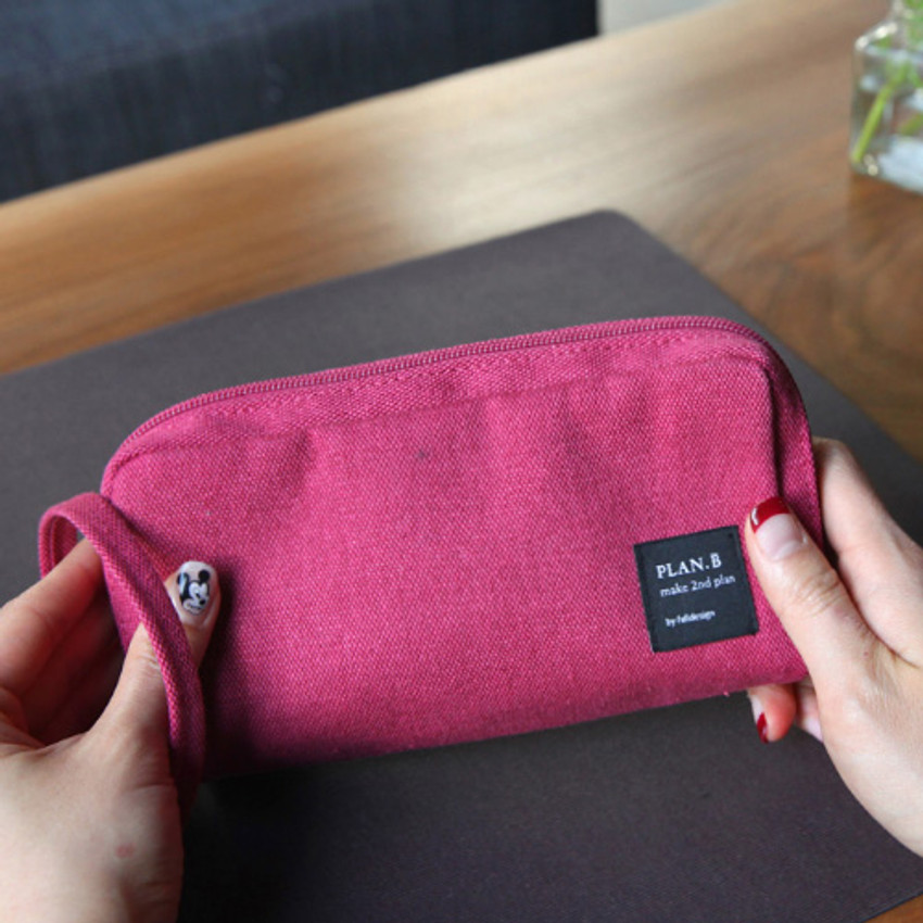 Rose pink - Make your second plan bankbook pocket pouch