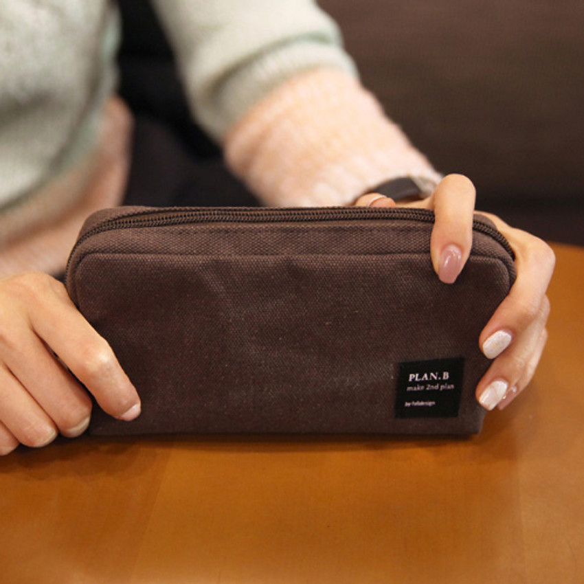 Dark brown - Make your second plan bankbook pouch