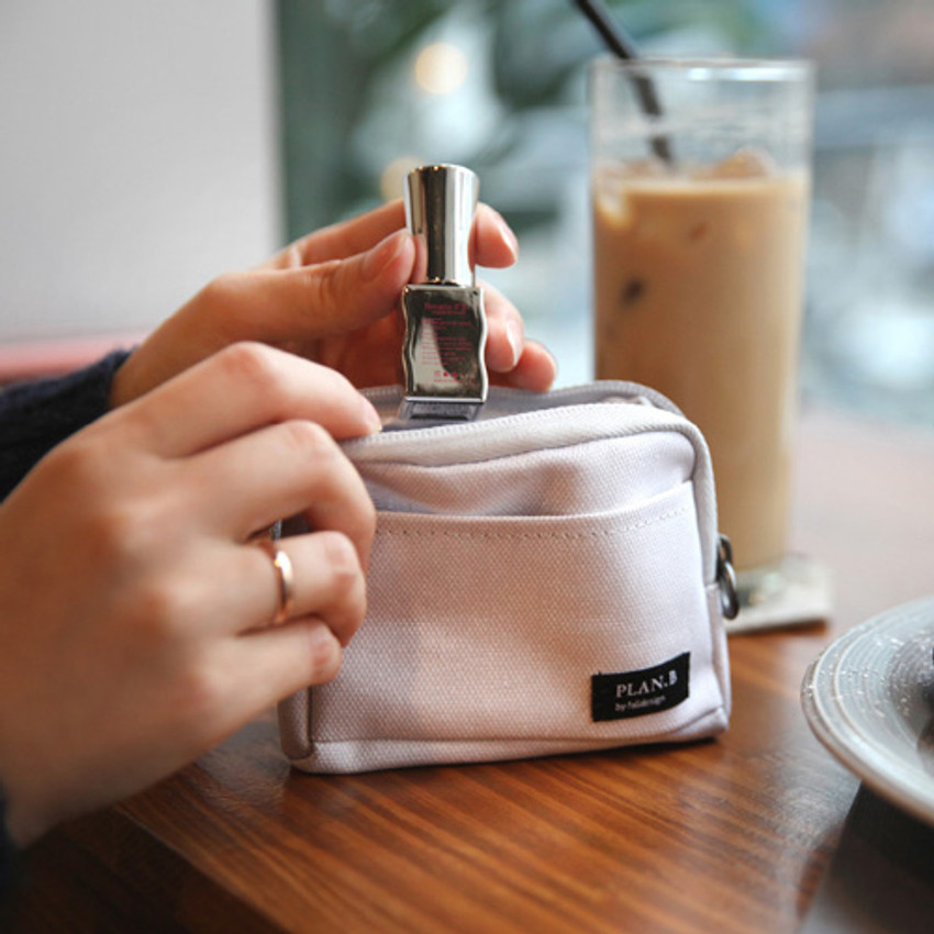 Clay white - Make your second plan multi small pocket pouch